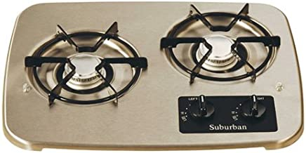 Suburban 2937ABK 2-Burner Black Cooktop