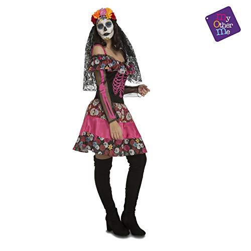 My Other Me - Día de los Muertos Halloween Catrina Disfraz, Multicolor, XL (204026)