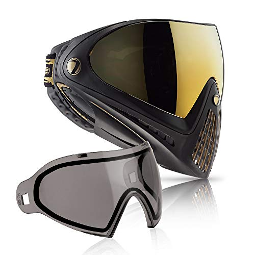 Dye i4 Paintball Goggle (Black/Gold with Smoke Thermal Lens Combo)