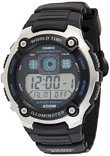Casio Reloj Digital para Hombre de Cuarzo con Correa en Resina AE-2000W-9AVEF