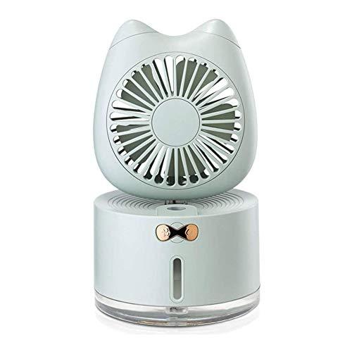 A-Lnice Mini ventilatore, comodo Tre in uno Usb piccolo ventilatore elettrico, ventilatore dello spruzzo, Desktop carica Spray umidificazione regolabile Direzione del vento mini ventilatore, con 7-Col