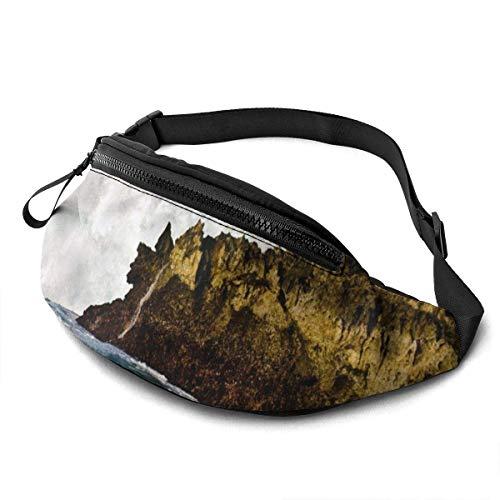 XCNGG Bolso de la Cintura del Ocio Bolso Que acampa Bolso del montañismo Waist Pack Bag for Men&Women, Natural Wave Utility Hip Pack Bag with Adjustable Strap for Workout Traveling Casual