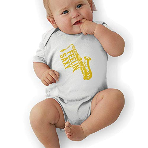 Bodys et Combinaisons, Baby One-Piece Suit,Baby Jumper,Pajamas, Bodysuits Baby, Feelin Saxy Saxophone Organic Baby Toddler Bodysuit Baby Clothes