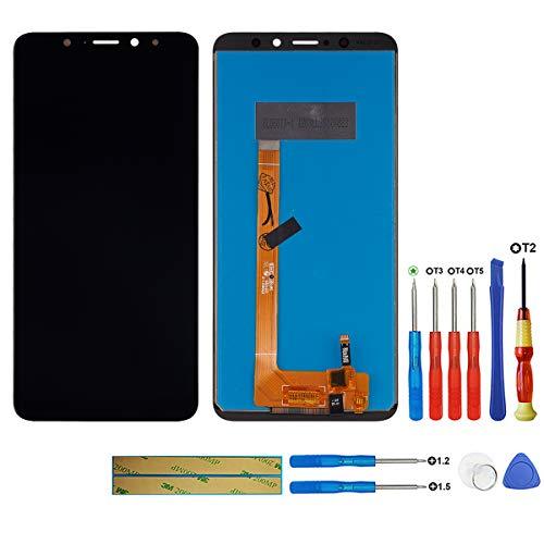 Swark - Pantalla LCD compatible con Wiko View XL (sin marco), pantalla táctil y herramientas