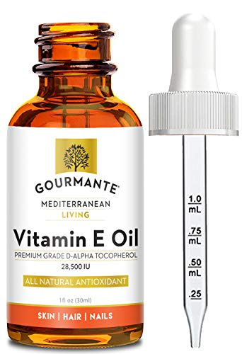 100% Natural Vitamin E Oil - For Skin, Hair and Nail Health - Nourishing Pure Vitamin E Oil For Skin - No Synthetic Ingredients, GMOs or Parabens - Cruelty Free Vitamin E Oil For Lip Gloss - 28,500 IU