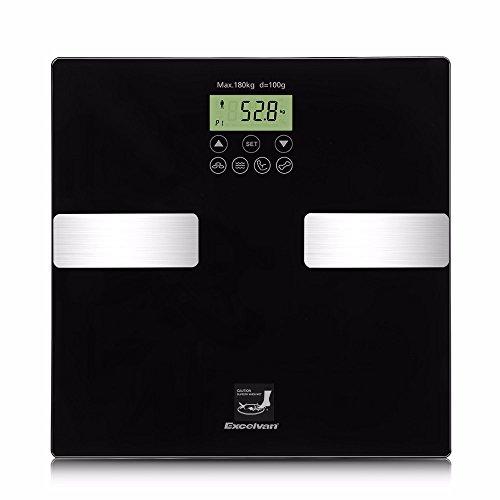 Básculas de baño 2020 Nueva Excelvan Touch 400 Lb (180 Kg) Escala Digital De Grasa Corporal Peso Corporal Inteligente Bmi Calorías De Agua Masa Muscular Y Ósea