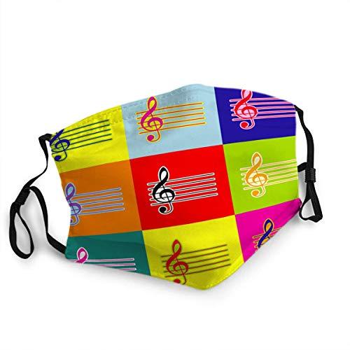 Anti Staub Gesichtsschutz Mund Shiled Scraf Musik Violine Notenschlüssel Zeichen G Notenschlüssel Pop Art