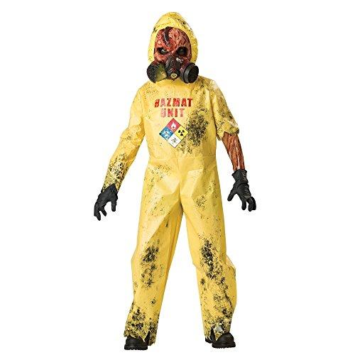 InCharacter Hazmat Hazard Child Costume,Yellow,Child 10