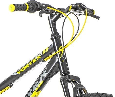 breluxx 26 Zoll Mountainbike Hardtail Venera Sport Vortex Yellow 18 Gang Shimano, Scheibenbremse Frontfederung MTB, inkl. Schutzbleche + Reflektoren, Modell 2019 - 3