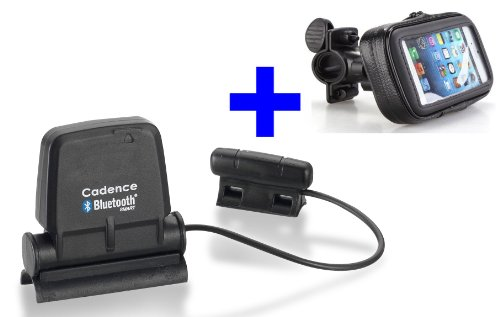 GO-SHOPPING24 Speed Cadence Bluetooth + Fahrradhalterung für Samsung S3, S4, S5, S6, S7, S8, S9, S10 für RUNTASTIC, Wahoo App - Trittfrequenzsensor und Geschwindigkeitsmesser