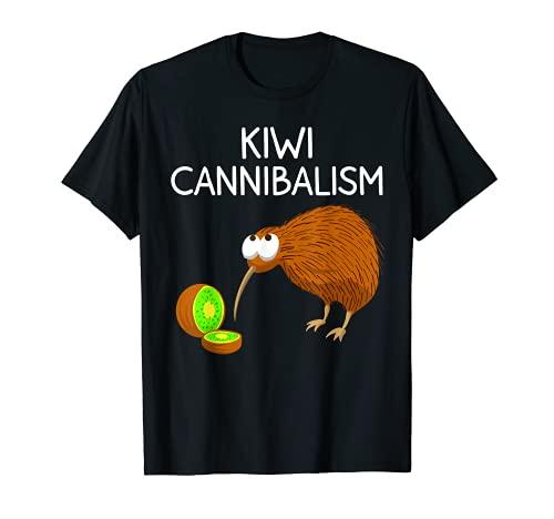 かわいいキウイバードギフト 面白いキウイカニバリズム 皮肉ジョークファン Tシャツ