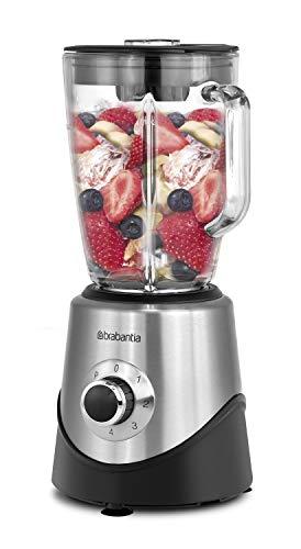 Brabantia BBEK1051 - Batidora de vaso - 500 W, con 1,5 L, para batidos y picadora de hielo - Acero inoxidable