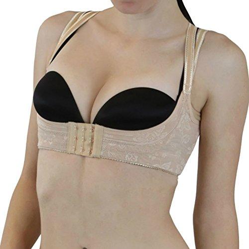LoveFifi Women's Elevatrix Bra - 38/X-Large - Nude