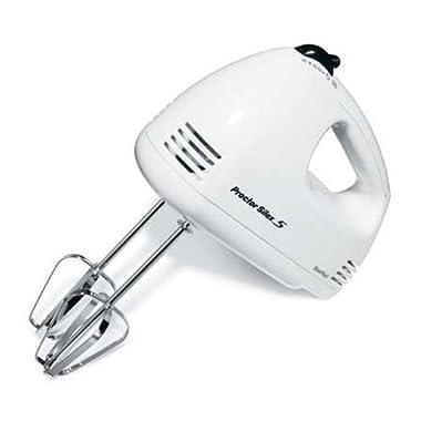 Proctor Silex 62509RY 5-Speed Hand Mixer, White