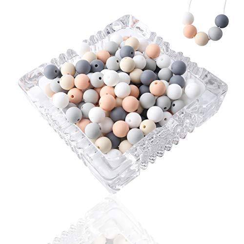 let's make Perlas de Dentición de DSilicona para Bebés Collar de Enfermería DIY para Niños 12mm 100pc