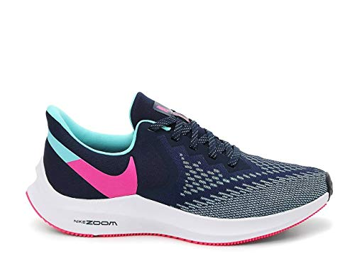 Nike Women's Zoom Winflo 6 Running Shoes Navy Pink Size 9