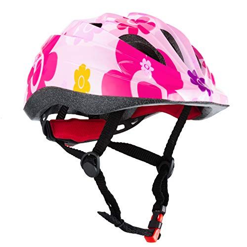Children Cycle Bike Helmet, regolabile per bambini casco da bici BMX Multi sport, casco per la sicurezza sportiva per i pattini da mountain bike, leggero, guida di età 3-12 anni ragazzi/ragazze(Rosa)