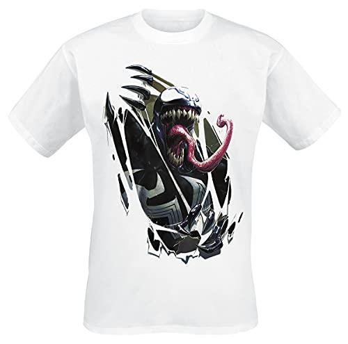 Venom (Marvel) Chest Burst Männer T-Shirt weiß M 100% Baumwolle Fan-Merch, Filme, Marvel Comics
