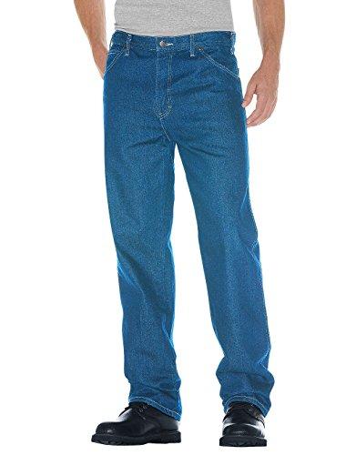 Dickies Herren Jeans mit 5 Taschen, entspannte Passform - Blau - 30W / 32L