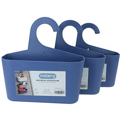 Meberg LA05 - Cesta de ducha para colgar (plástico), organizador para colgar, para utensilios de baño o cocina, cesta de almacenamiento