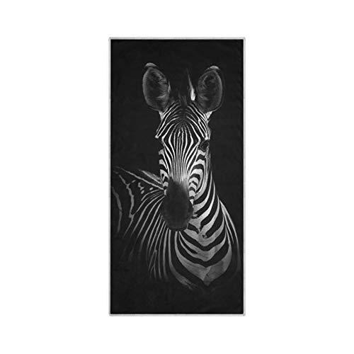 RELEESSS Zebra-Tier-Handtücher, weiche Mikrofaser, schnell trocknend, Handtuch für Zuhause, Badezimmer, Küche, Reisen, Sport, Fitnessstudio, Yoga, Spa, Mehrzweck-Nutzung