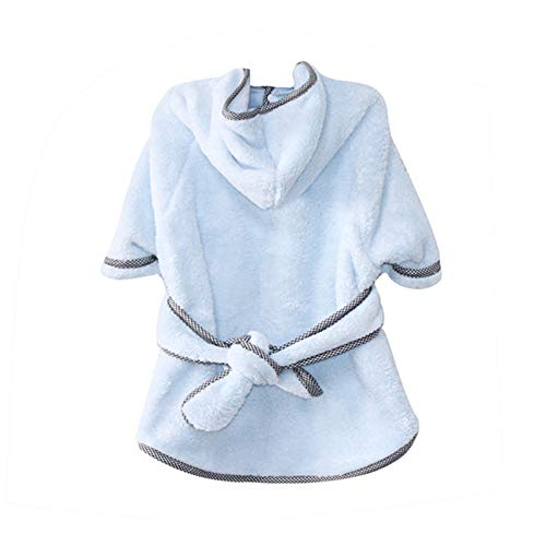 MHCT Dog Bathrobe Soft Warm Dog Pajamas with Double-Sided Adjustable Coral Fleece Dog Drying Towel Robe Pet Clothes for Large,Medium,Small Dogs (Small)