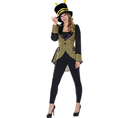 Rubie`s Disfraz de Mujer Abeja abejorro Chaqueta Chaqueta de Abrigo Amarillo-Negro Carnaval (46)