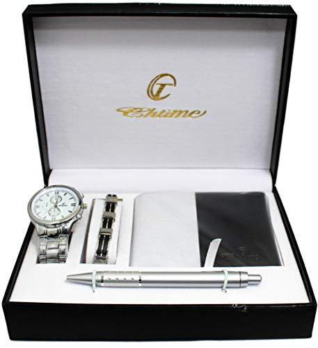 BELLOS: ERNEST, estuche regalo para hombre: reloj + cartera + bolígrafo + linterna