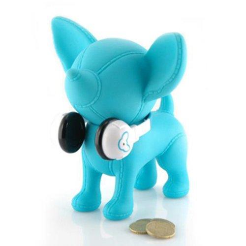 Hucha perro banquero Chihuahua 'goes música' azul