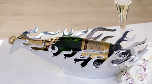 Casablanca Elegante Schale Alu Flame Sektkühler Weinflaschenhalter Deko Eyecatcher Blickfang