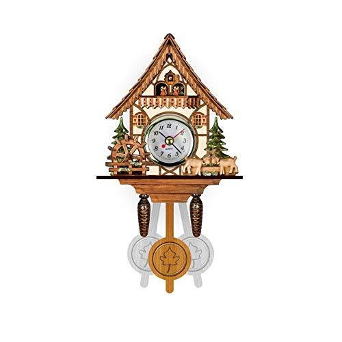 MEYLEE Reloj De Cuco De Pared Grande Y Vívido, Movimiento De Reloj De Cuco Estilo Chalet, Auténtico Reloj De Cuco De La Selva Negra,005