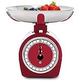 Balanza de cocina mecánica SHIRLEY- rojo