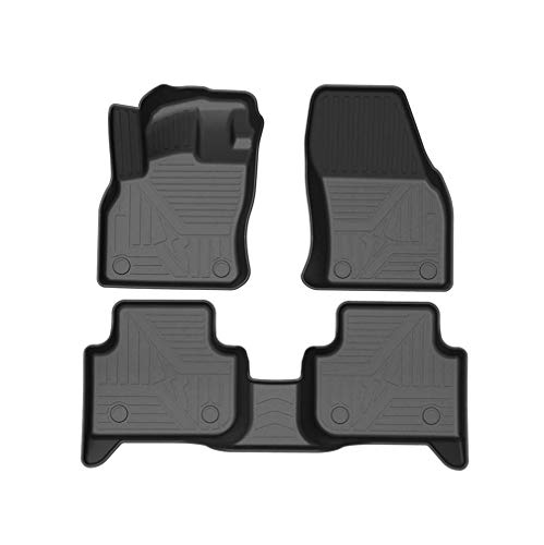WANLING Juego de Alfombrilla de Goma Moqueta a Medida Ajustan para Audi Q3 2019-2020 5Asiento 3D Antideslizante Alfombras