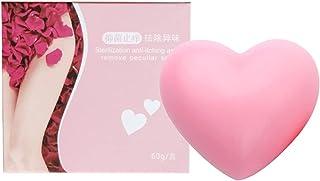 Laddup Whitening zeep in hartvorm, zeepzakje biologisch, peeling-zeep lichaamsverzorging, opschuimen en drogen van zeep, p...