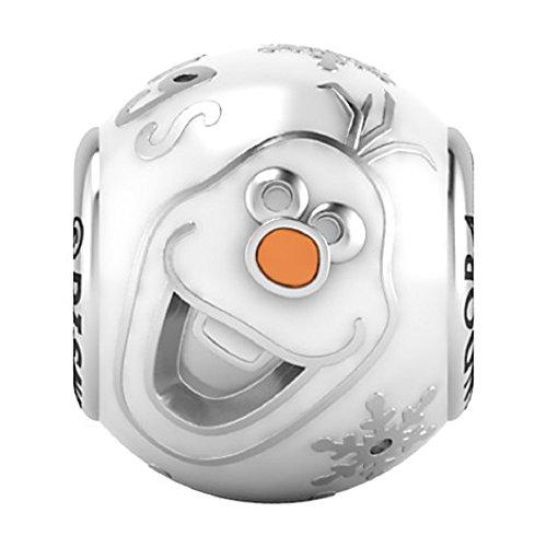 Pandora Olaf Disney Charm - Bola de Nieve (Esmalte Blanco)