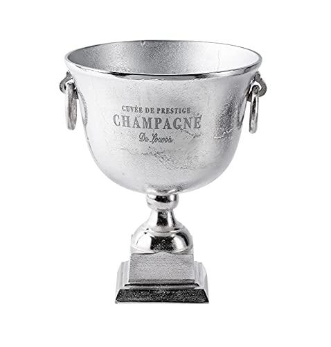 Michael Noll Champagnerkühler, Champagnerschale, Flaschenkühler, Alumium, Silber, Champagne, 37 cm, Standfuss, XXL