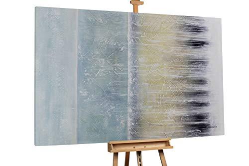 'Fade to Grey' 180x120cm | Abstrakt Gelb Grau Deko | Modernes Kunst Ölbild