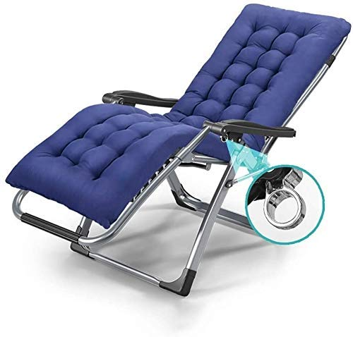 Sun Lounger Garden Chairs Oversized Reclining Garden for Heavy Duty People, Patio Deck Chairs with Removable Cushions, Portable Sun Lounger Zero Gravity Chair For family lounge