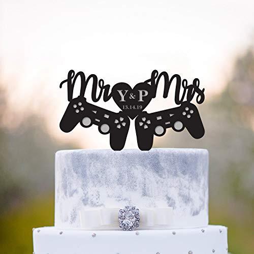 Video game wedding cake topper,gaming wedding cake topper,Gamer cake topper,gamer wedding cake topper,game controller cake topper,a50