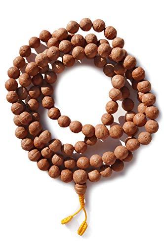 BUDDHAFIGUREN/Billy Held Mala Bodhi-Seeds - tibetische Gebetskette 13 mm
