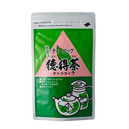 やまもり本店 徳得茶 抹茶入り緑茶 水出し ティーバッグ 一級国産茶葉 75g(5g×15包)