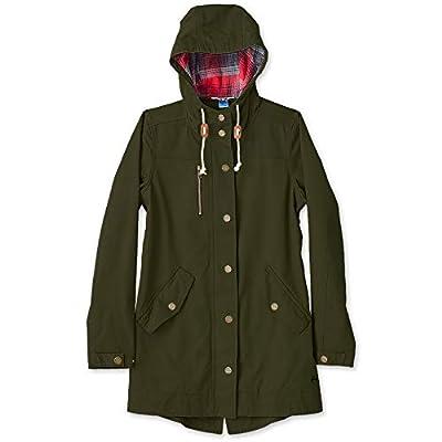 KAVU Sundowner Women's Coat - Flannel Jacket Long Sleeve Button Zip Coat - Tarmac - Medium by KAVU-Outdoors