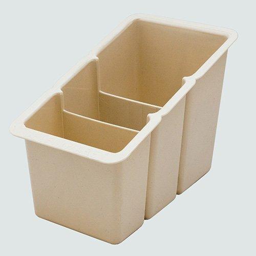 Delfinware Abtropfgestell Kunststoff Besteck Box, cremefarben
