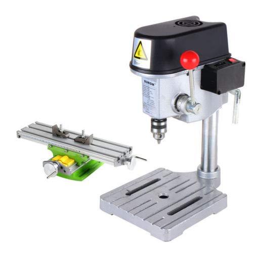 Hengwei 220V Mini High-speed Bench Drill Drilling PCB PVC Milling Machine + Workbench