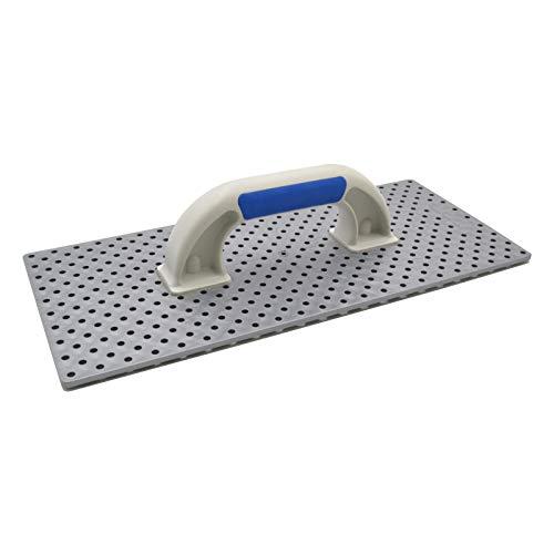 DEWEPRO® WDVS Kunststoff Schleifbrett mit offenen Kunststoff-Kronen - Größe: 365x165mm - Reibebrett - Kratzbrett - Egalisierungsbrett