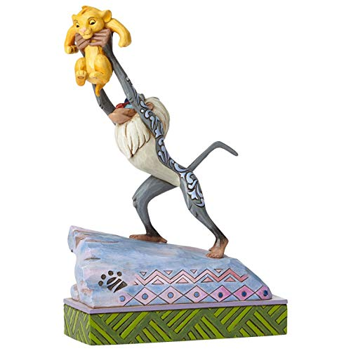 Enesco Disney Traditions by Jim Shore Rafiki and Baby Simba on Pride Rock Figurine, 8.125', Multicolor