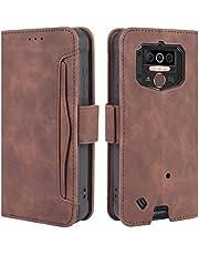 HualuBro Oukitel WP5 Case, Magnetische Full Body Bescherming Shockproof Flip Lederen Portemonnee Case Cover met Kaartensleuf Houder voor Oukitel WP5 2020 Telefoon Case (Bruin)