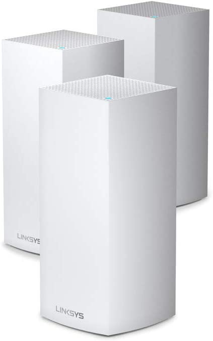 Linksys AX4200 Smart Mesh Wi-Fi 6 Router for Whole Home WiFi Mesh System, Tri-Band AX Wireless Gigabit Mesh, Fast Speeds up to 4.2 Gbps, coverage up to 8,100 sq ft, up to 120 devices, 3-Pack (MX12600)