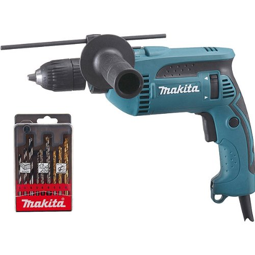 Makita HP1641K1X Taladro De Percusion, 680 W, 0 V, Multicolor