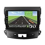 YUNTX Android 10 2 Din Autoradio para Mitsubishi Outlander/Peugeot 4007/Citroen C-Crosser-4G+64G-[Integrado CarPlay/Android Auto/DSP]-8 Core-Gratuitos Cámara&MIC -DAB/Control del Volante/Bluetooth 5.0